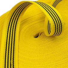 Стрічка 40мм 50м буксирувальна жовта
